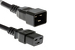 AC Power Cord, C20 to C19, 12 AWG, 15ft Black