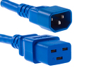 AC power cord, C14 to C19, 14 AWG 2ft, Blue