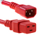 AC power cord, C14 to C19, 14 AWG 2ft, Red