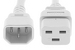 AC power cord, C14 to C19, 14 AWG, 2ft, White