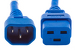 AC power cord, C14 to C19, 14 AWG, 4ft, Blue