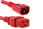 AC power cord, C14 to C19, 14 AWG, 4ft, Red