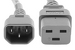 AC power cord, C14 to C19, 14 AWG, 6ft, Grey