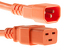 AC power cord, C14 to C19, 14 AWG, 10ft, Orange