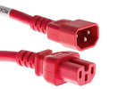 AC Power Cord, C14 to C15, 14 AWG, 5ft RED