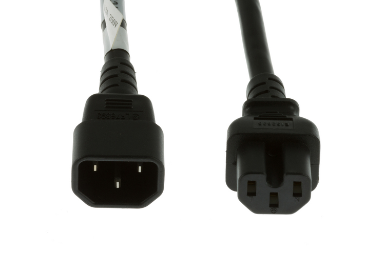 Lifetime Warranty 16 AWG 10ft AC Power Cord C14 to C15