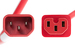 AC Power Cord, C14 to C15, 14 AWG, 4ft, Red