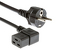 "AC Power Cord, European Plug ""Schuko"" CEE 7/7 to C19R, 2.5M"