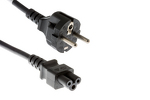 "AC Power Cord, European Plug ""Schuko"" CEE 7/7 to C5, 2 Meters"