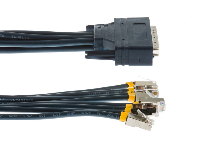 Cab Octal Async Cisco Compatible 8 Lead Octal Cable