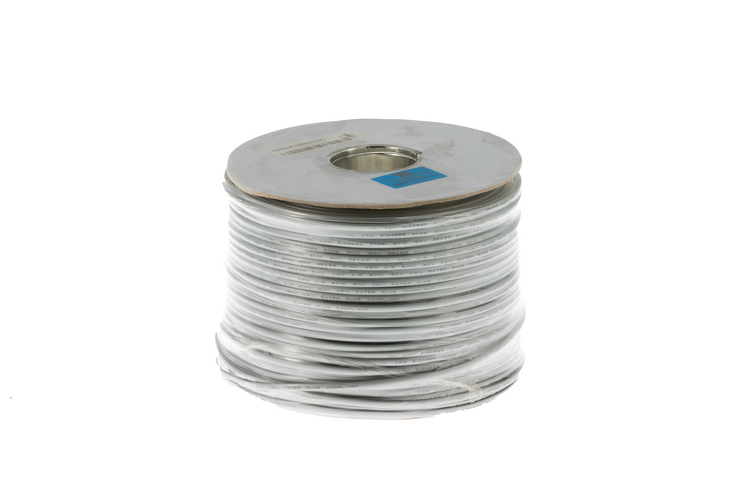 Cat3 Silver Satin Modular Cable, 4 Conductor, 1000 Ft., UL Rated