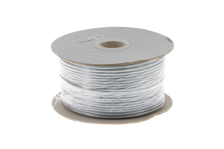 Cat3 Silver Satin Modular Cable, 4 Conductor, 1000 Ft.
