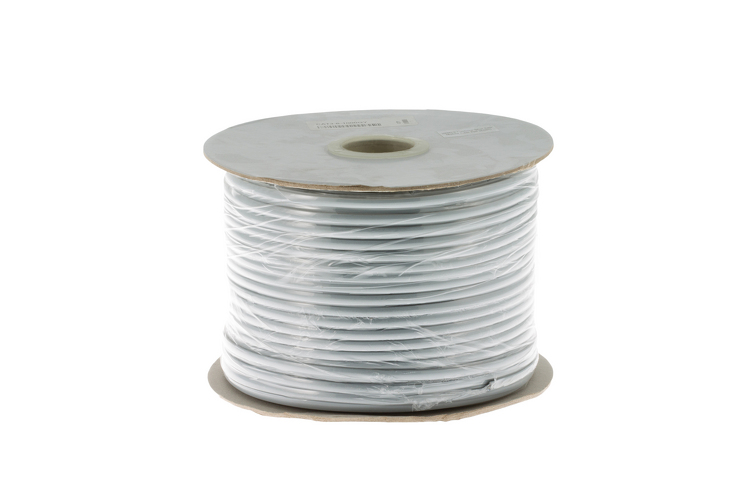 Cat3 Silver Satin Modular Cable, 6 Conductor, 1000 Ft.