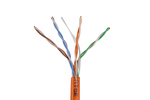 Cat5E Ethernet Cable, 1000' Pull Box, Plenum, Orange