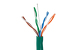 Cat5E Stranded Ethernet Cable, 1000' Pull Box, 350MHZ UTP, Green