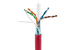 Cat6 Shielded Ethernet Cable, 1000' Spool, 550MHZ STP, Red