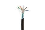 Cat6 Outdoor Direct Burial Cable, 1000' Spool, STP, Black