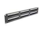 48 Port Cat6 110 2RU Rack Mount Punch Down Patch Panel