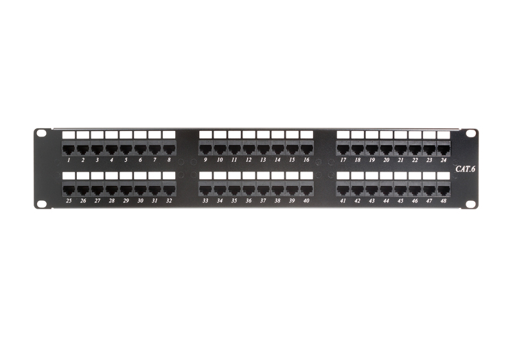 Rack Mount Punch Down Patch Panel 48 Port Cat6 110 2ru