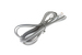 RJ11 Modular Telephone Cord, 4 Conductor 6P4C, 7ft, Silver