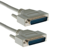 DB25 Male to DB25 Male RS-232 Serial Cable, 15', Beige