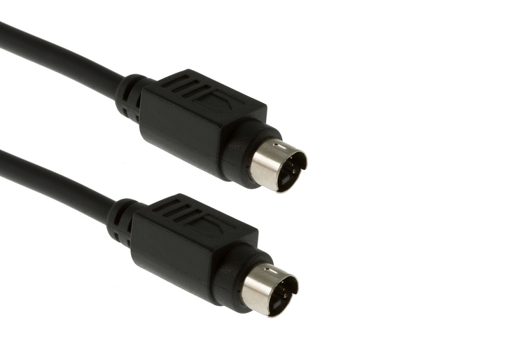 S-Video Cable Male to Male, 25', Black