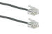 RJ11 Straight Modular Telephone Cable, Silver, 1ft
