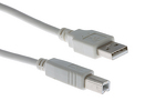 USB 2.0 A to B Cable, Beige, 6'