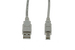 USB 2.0 A to B Cable, Beige, 10'