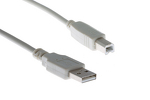 USB 2.0 A to B Cable, Beige, 15'