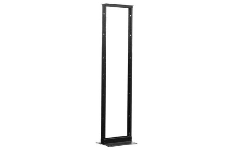 "45U (7') 19"" Two Post Relay Rack, Black Finish"