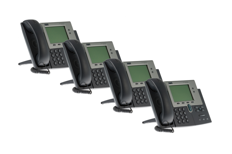 Cisco 7941G Two line Unified IP Phone, CP-7941G, Four Pack