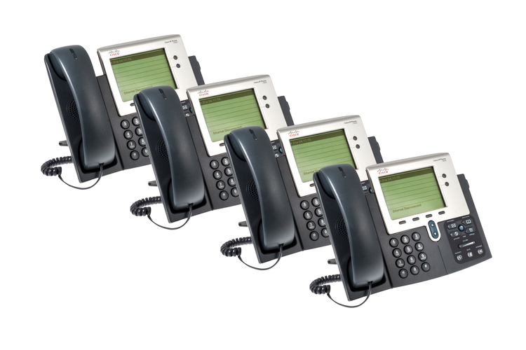 Cisco 7942G Two line Unified IP Phone, CP-7942G, Four Pack