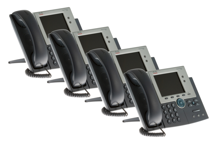 Cisco 7945G Two line Color Display IP Phone, CP-7945G, Four Pack
