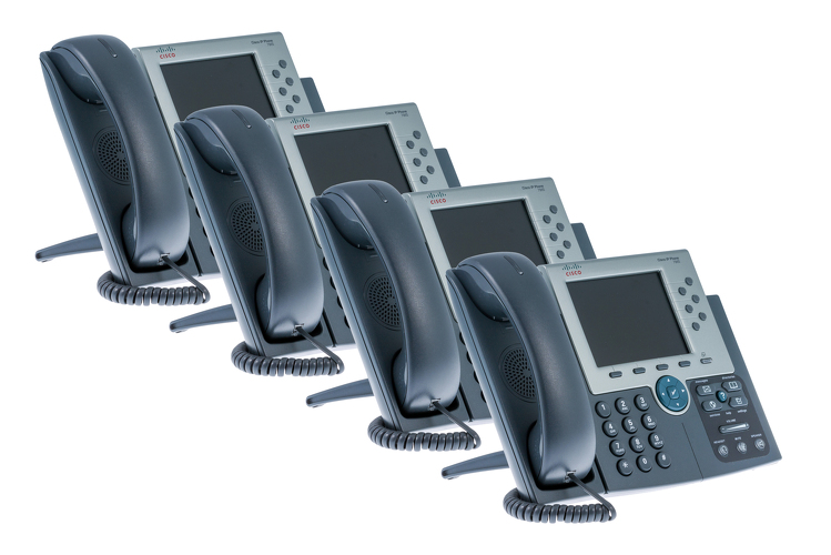 Cisco 7965G Six Line Color Display Unified IP Phone, Four Pack