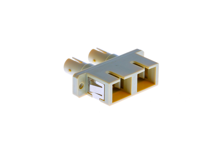 ST-SC Multimode Duplex Fiber Optic Cable Adapter