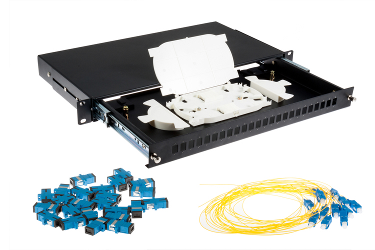 24 Port SC Single-Mode OS2 Fiber Patch Panel Bundle