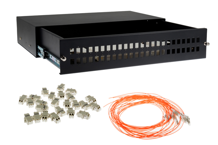 48 Port LC Multimode OM2 Fiber Patch Panel Bundle