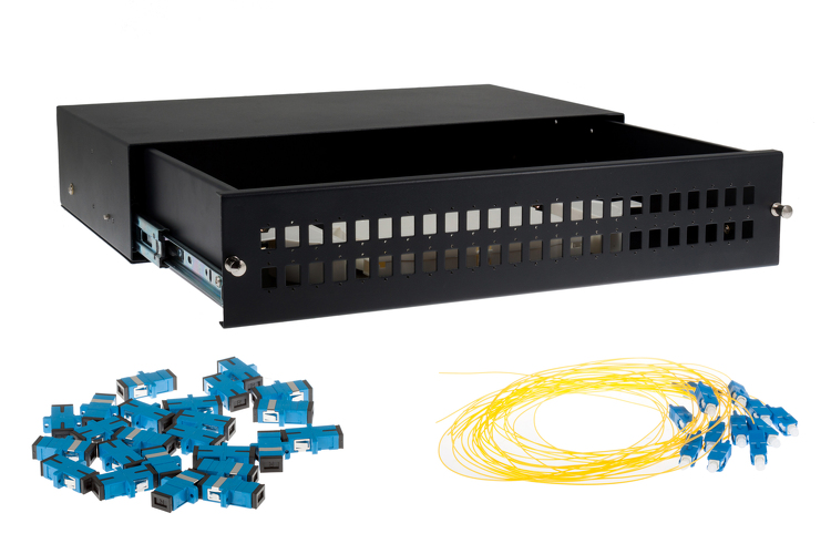 48 Port SC Single-Mode OS2 Fiber Patch Panel Bundle