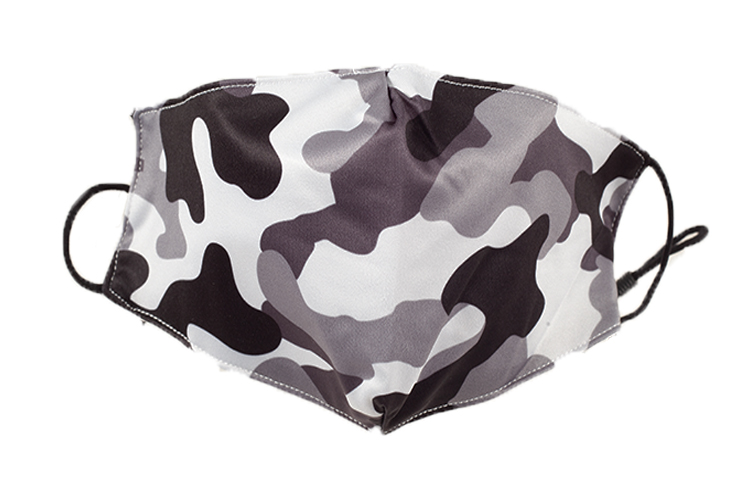 Adult Protective Face Mask, Camo Design, 100% Cotton