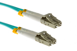 LC-LC 10 Gigabit Multimode Duplex 50/125 Fiber Patch Cable, 9M
