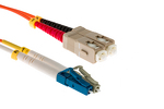 LC to SC Mode Conditioning 62.5/125 Fiber Patch Cable, 3 Meters