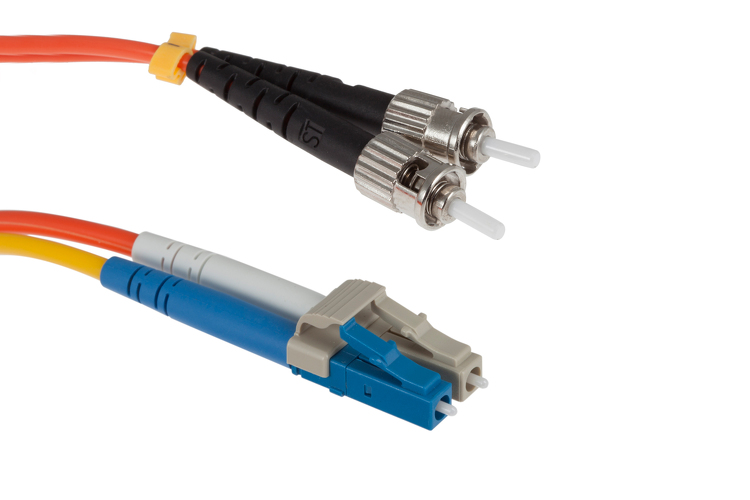 LC to ST Mode Conditioning 62.5/125 OM1 Fiber Patch Cable, 4 Meters