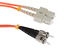SC to ST Mode Conditioning 62.5/125 OM1 Fiber Patch Cable, 10 Meters
