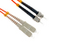 SC to ST Multimode Duplex 62.5/125 Fiber Patch Cable, 1 Meter