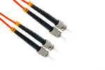 ST to ST Multimode Duplex 62.5/125 Fiber Patch Cable, 1 Meter