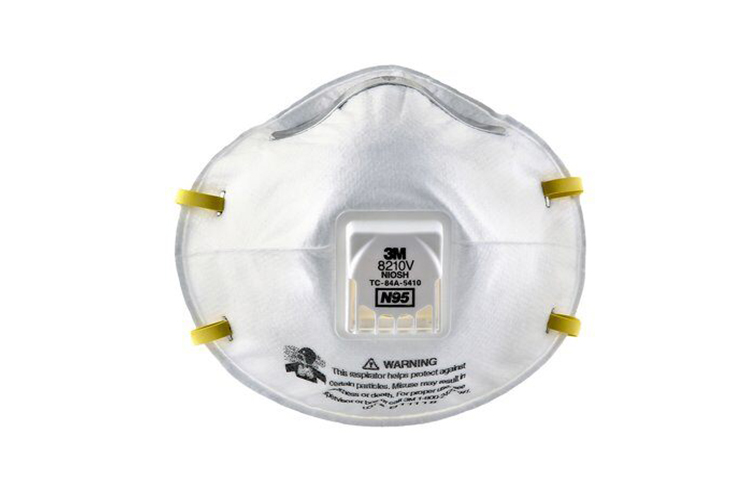 3M 8210V N95 Protective Face Mask w/Cool Valve Technology, 10 Pack