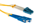 LC to SC Singlemode Duplex 9/125 Fiber Patch Cable, .3 Meter