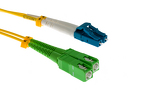 LC/UPC to SC/APC Singlemode Duplex Fiber Patch Cable, 5 Meters
