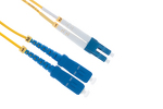 LC to SC Singlemode Duplex 9/125 Fiber Patch Cable, 15 Meters